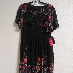 Adriana Papell Black Floral dress